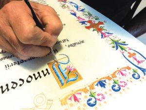 Calligrafia pergamena Rino Pensa
