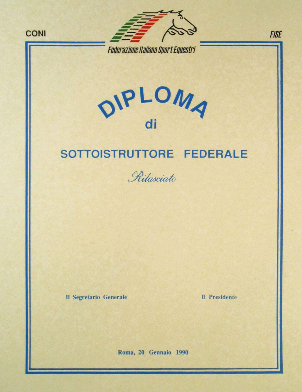 Diploma istruttore federale