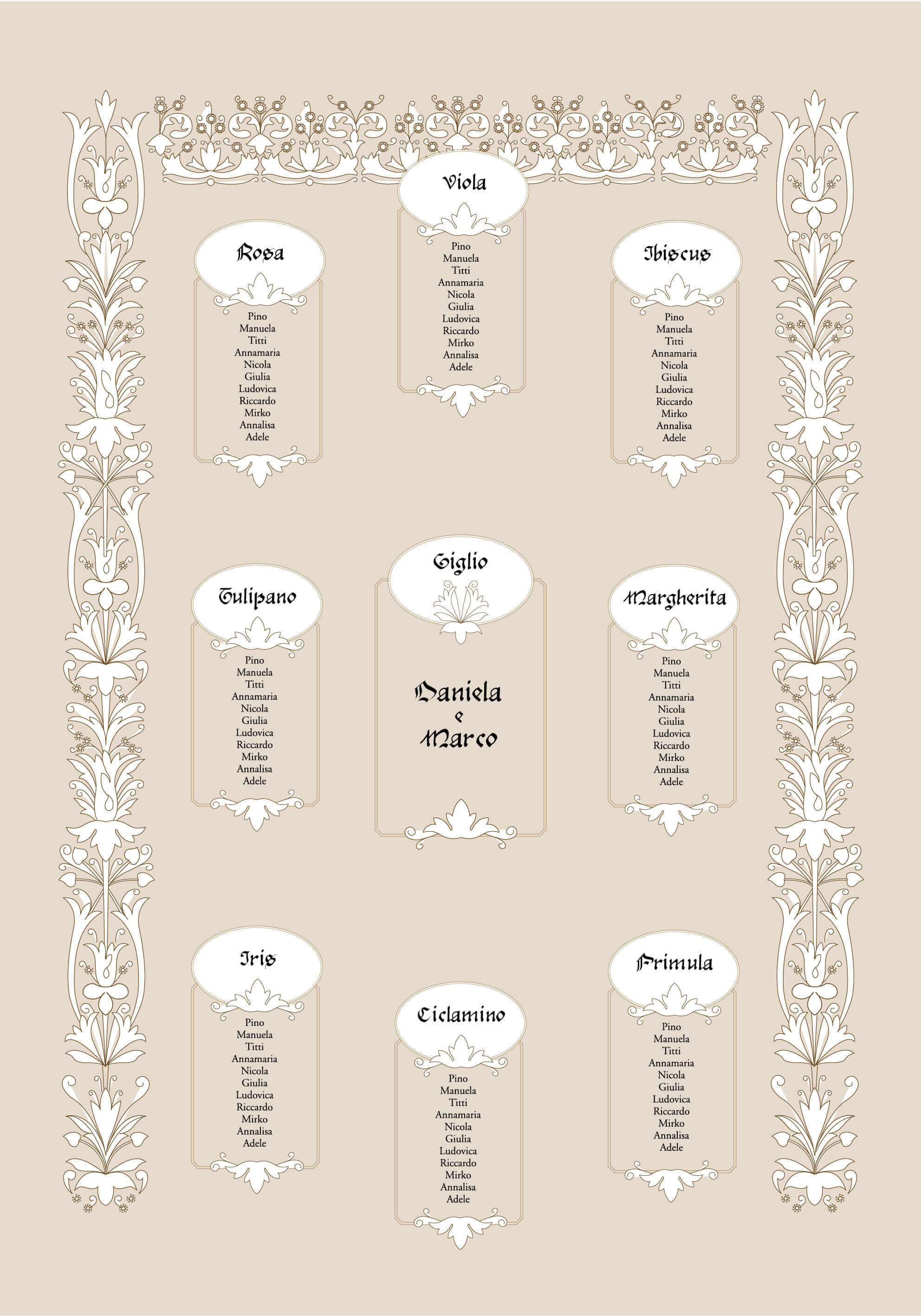 Rino Pensa tableau sposi wedding
