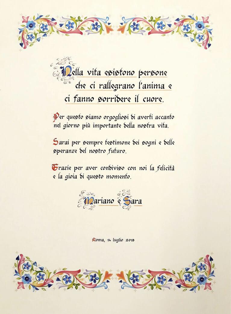 Rino Pensa Pergamene Dedica Testimoni_Matrimonio